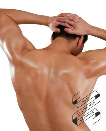 Pack Depilación Láser - Espalda + Axilas (Hombre) - 5 Sesiones